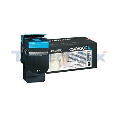 LEXMARK C540 C543 TONER CARTRIDGE CYAN 2K
